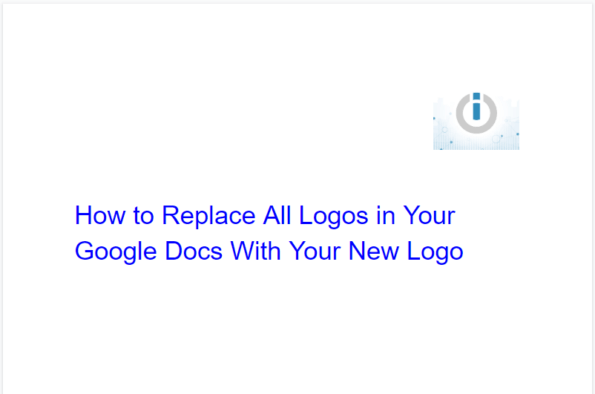 How to replace all logos in Google Docs with your new ones