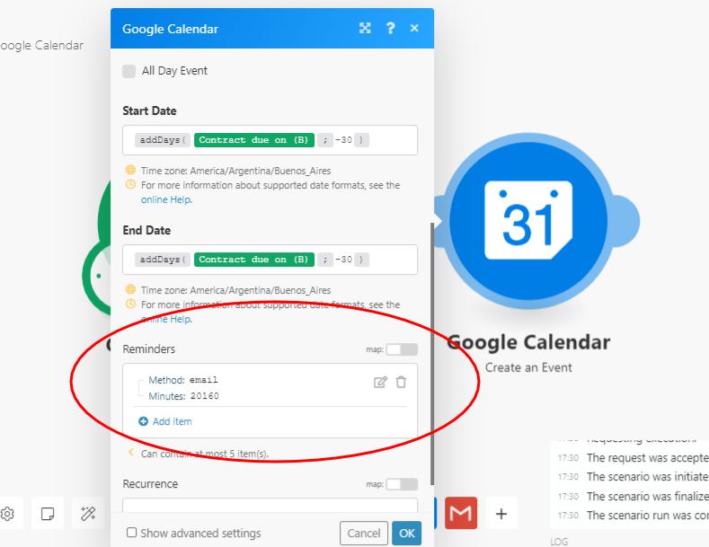 contract-management-automation-google-calendar-reminder-screenshot