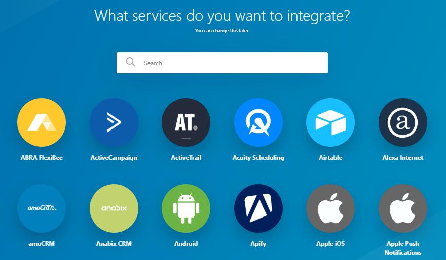 integromat-integrations-dashboard