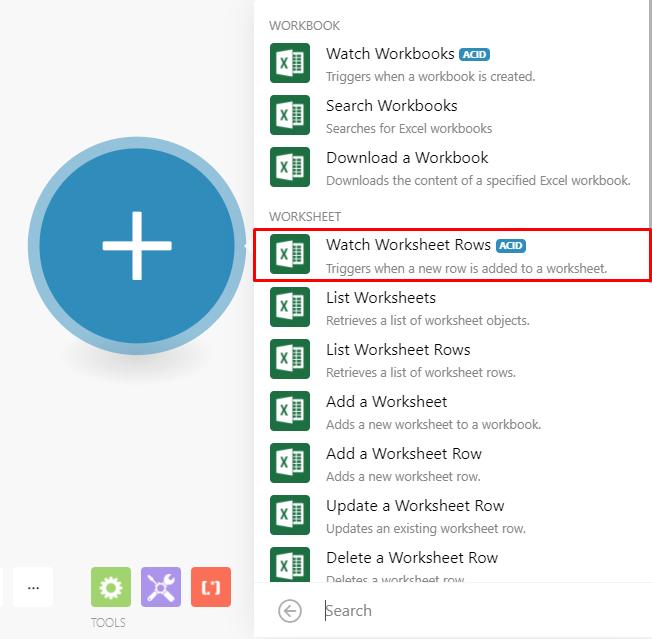 Excel-watch-worksheet-rows-module