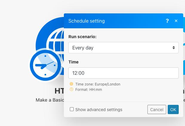 integromat-scenario-scheduling-options