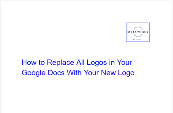 How to replace all logos in Google Docs with new ones