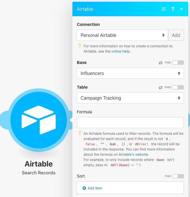 integromat-airtable-search-records-module-setup