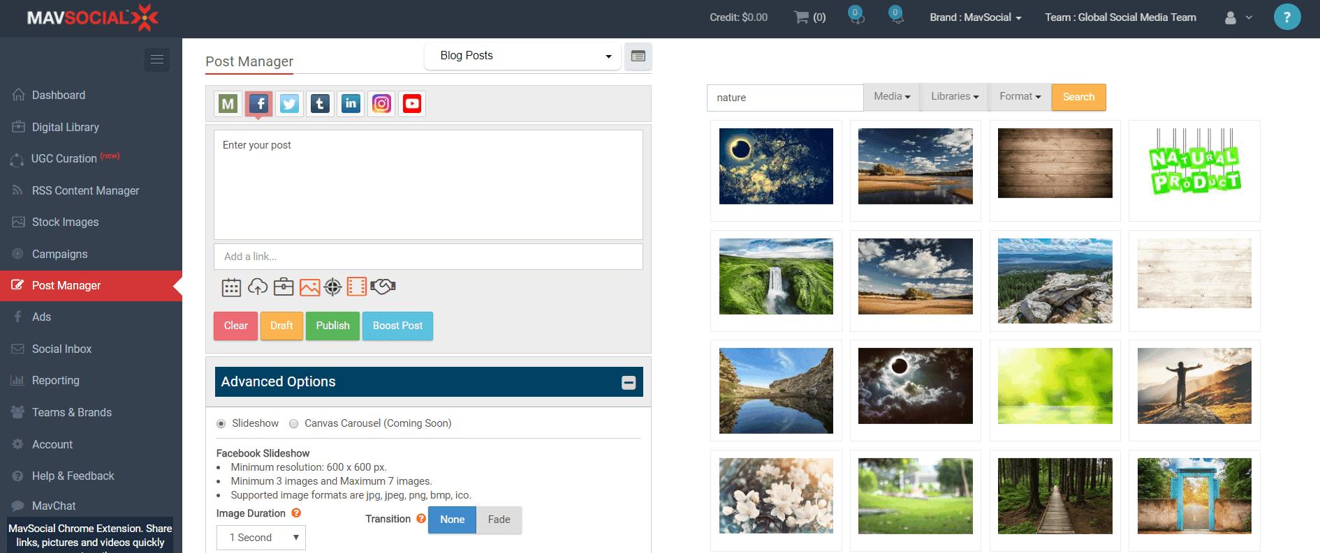 mavsocial-slideshow-feature-screenshot