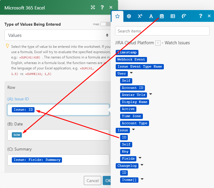 mapowanie-modułów-Excel