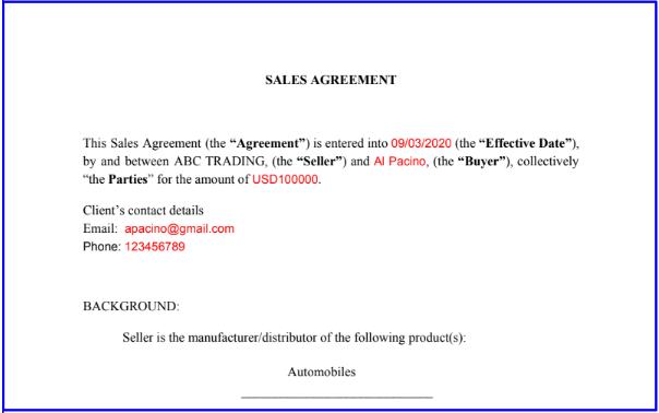 Contract creation Integromatautomation