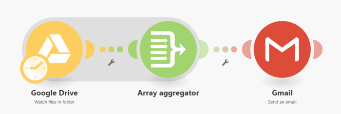Array aggregator module in Integromat